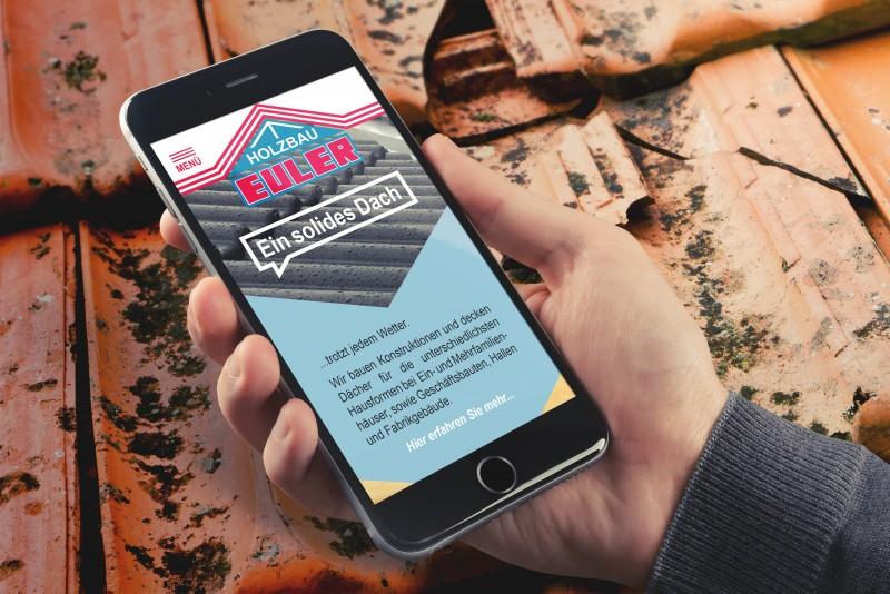 Holzbau Euler Website Smartphone